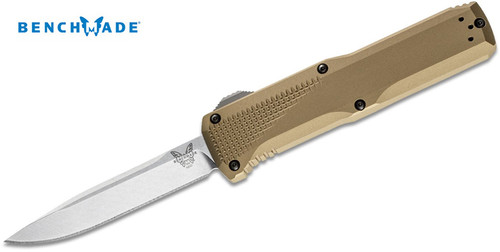"BENCHMADE 4600-1 PHAETON DOUBLE ACTION OTF AUTOMATIC. 3.45"" PLAIN EDGE CPM-S30V BLADE. FDE ANODIZED 6061-T6 ALUMINUM HANDLE. CUTLERY SHOPPE"
