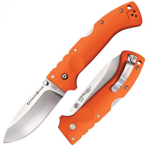 "Cold Steel 30URY Ultimate Hunter - 3.5"" Drop Point CPM-S35VN Blade - Orange G-10 Handle"