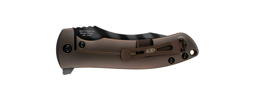 "Zero Tolerance 0920TTS Les George KVT Flipper - 3.9"" Tiger Stripe Finish CPM-20CV Blade - Tan 3D Machined Titanium Handle - SPRINT RUN - SOLD OUT"