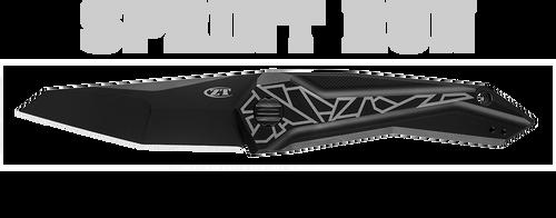 "ZERO TOLERANCE 0055BLK CECCHINI SLT FLIPPER. 3.75"" BLACK DLC FINISH CPM-20CV BLADE. BLACK ANODIZED TITANIUM HANDLE. SPRINT RUN. CUTLERY SHOPPE"