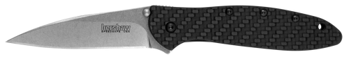 "Kershaw 1660GLCF Leek - 3.0"" Stonewash Finish CPM-154 Blade - SpeedSafe® Assist - Glow in the Dark Carbon Fiber Handle - LIMITED EDITION"