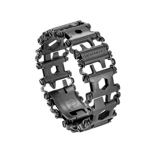 LEATHERMAN 831999 TREAD BRACELET MULTI-TOOL. MADE IN USA. 17-4 BLACK DLC FINISH STAINLESS STEEL. 29 TOOL FEATURES. CUTLERY SHOPPE