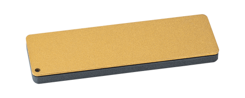 """FALLKNIVEN DC4 DIAMOND CERAMIC WHETSTONE. 4.0"""" x 1.25"""" SIZING. INCLUDES BLACK LEATHER CARRY POUCH. CUTLERY SHOPPE"""