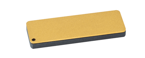 """FALLKNIVEN DC3 DIAMOND CERAMIC WHETSTONE. 3.0"""" x 1.0"""" SIZING. INCLUDES BLACK LEATHER CARRY POUCH. CUTLERY SHOPPE"""