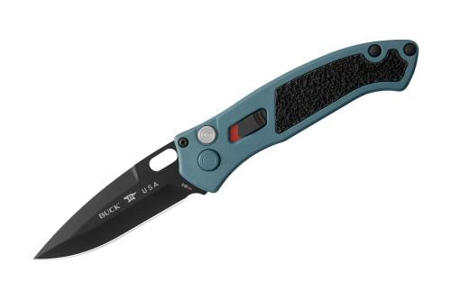 "BUCK KNIVES 898BLS1 IMPACT AUTOMATIC KNIFE. 3.125"" PLAIN EDGE BLADE. PREMIUM S30V BLADE STEEL W/BLACK OXIDE FINISH. 6061-T6 ALUMINUM HANDLE WITH CERAKOTE FINISH. CUTLERY SHOPPE"