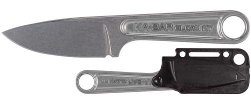 "KA-BAR FORGED WRENCH KNIFE MODEL 1119. 3.0"" PLAIN EDGE 425 HIGH CARBON STEEL BLADE. MOLDED SHEATH. CUTLERY SHOPPE"