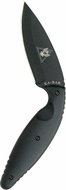 "KA-BAR 1482 LARGE TDI LAW ENFORCEMENT KNIFE 02-1482. 3.5"" PLAIN EDGE AUS-8A BLADE. MOLDED BELT SHEATH W/CLIP. CUTLERY SHOPPE"