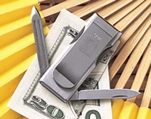 Al Mar MCSS Cash Clip - Small Blade & Nail Tool - Stainless Steel Construction