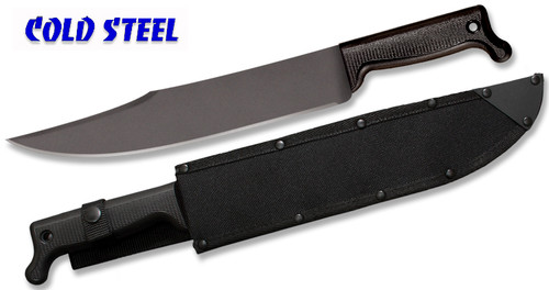 "Cold Steel 97BWM12S Bowie Machete - 12"" Carbon Steel Blade w/Baked-on Anti Rust Black Finish - Polypropylene Handle - Cor-Ex Sheath - CUTLERY SHOPPE"
