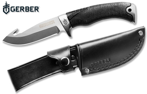 "GERBER GATOR PREMIUM FIXED BLADE W/GUT HOOK. MODEL 30-001082. 4.0"" CPM-S30V BLADE. CUTLERY SHOPPE"