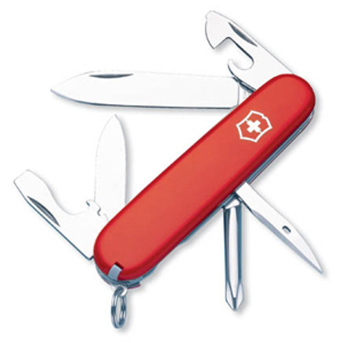 "VICTORINOX SWISS ARMY TINKER RED. 91MM (3.58"") CLOSED. CUTLERY SHOPPE"