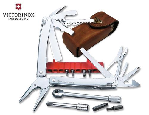 """Victorinox Swiss Army #53806 SwissTool Spirit Plus w/Ratchet 105mm (4.13"""") w/Leather Pouch"""