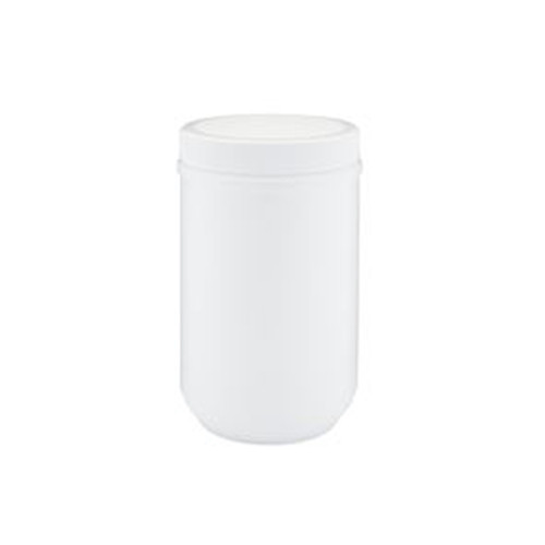 White HDPE Plastic Wide Mouth Straight Sided Jars