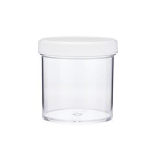 Clear PS Plastic Straight Sided Jars (Short)