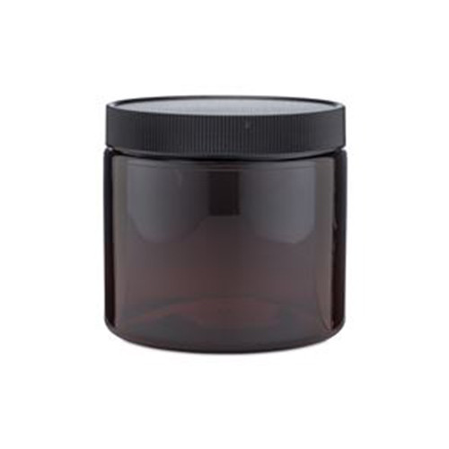 Amber PET Plastic Straight Sided Jars