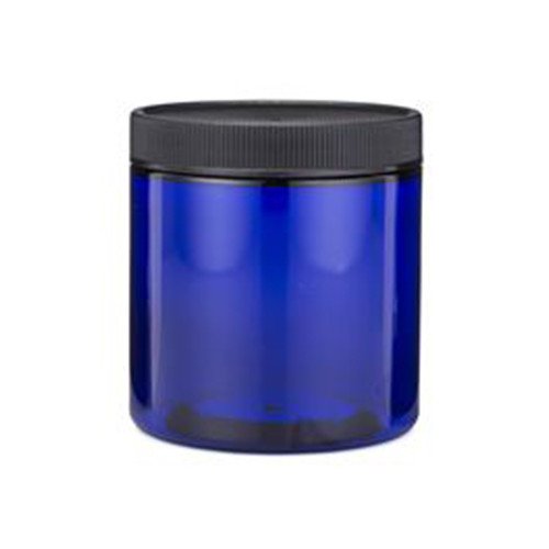 Blue PET Plastic Straight Sided Jars