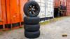 "4 x RHOX Gloss Black SS 12"" Golf Cart Wheels w/ RXLP Low Profile Tires"