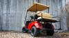 "2013 Custom Flame Red EZGO 48-Volt Electric TXT 4 Passenger Golf Cart 10"" Wheels"
