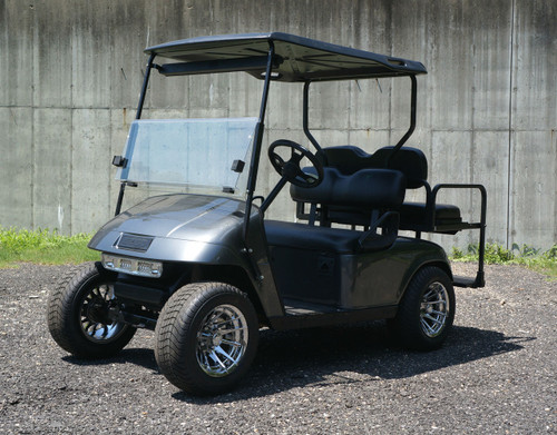 2013 Custom Metallic Gray EZGO 48 Volt Electric TXT 4 Passenger Golf Cart