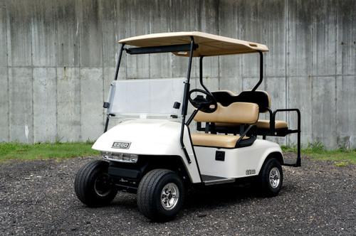 2013 White EZGO 48 Volt Electric TXT 4 Passenger Golf Cart w/ Light Kit