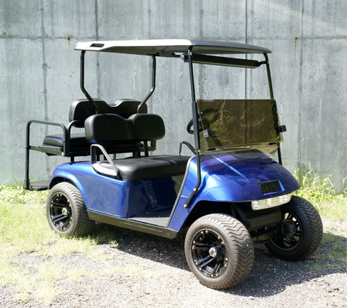 Custom Electric Blue EZGO 48 Volt Electric TXT 4 Passenger Golf Cart
