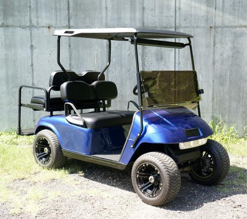 Custom Electric Blue EZGO 48 Volt Electric TXT 4 Passenger Golf Cart