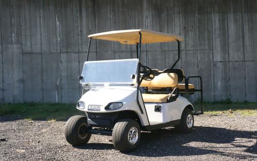 2013 White Refresh Body EZGO 48 Volt Electric TXT 4 Passenger Golf Cart