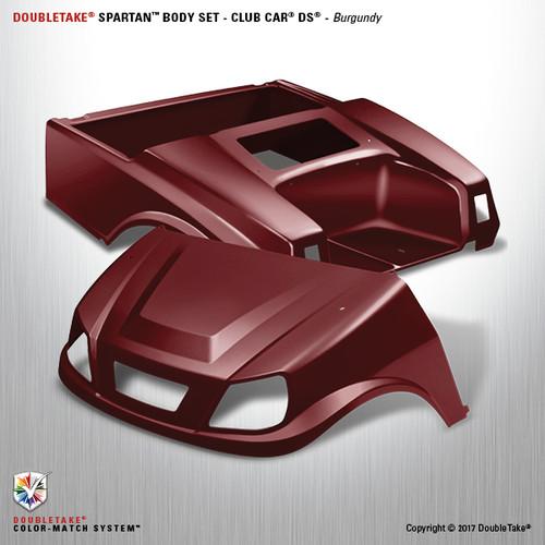 DoubleTake Spartan Body Set - Club Car DS Burgundy