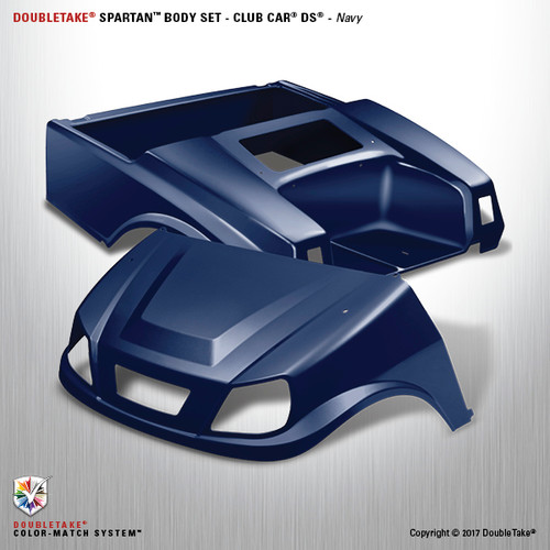 DoubleTake Spartan Body Set - Club Car DS Navy