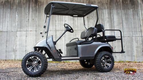 2013 Metallic Gray 48 Volts EZGO Lifted TXT 4 Passenger Golf Cart
