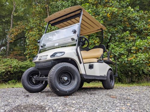 2019 White EZGO 48-Volt Electric TXT 4 Passenger Golf Cart w/ Lights & Wheels