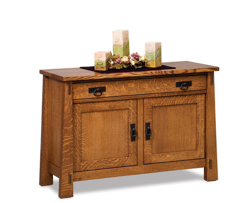 Modesto Enclosed Sofa Table with Drawer, Doors & Shelf