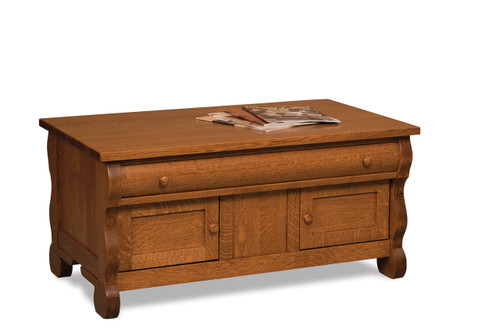 Old Classic Sleigh Enclosed Coffee Table
