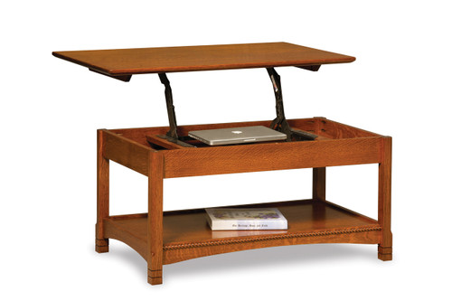 West Lake Open Lift Top Coffee Table with Counter Weight