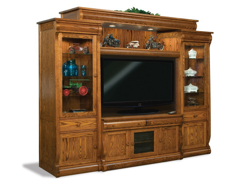 Old Classic Sleigh 6-Piece Wall Unit Entertainment Center