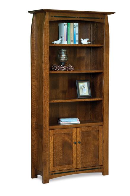 Boulder Creek 4 Shelf, 2 Door Bookcase