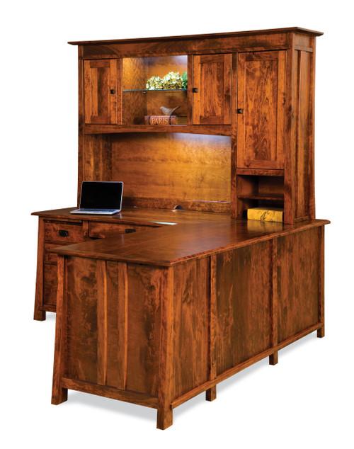 Grant L Desk with Hutch