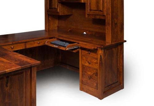 Victorian U Desk - Keyboard Pullout