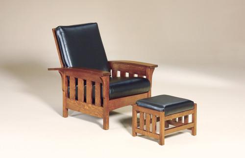 Bow Arm Morris Slat Chair with Bow Arm Morris Slat Footstool