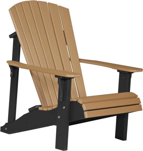 Cedar & Black Deluxe Adirondack Chair