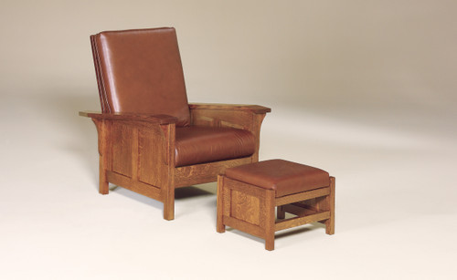 Clearspring Morris Panel Chair shown with Clearspring Morris Panel Footstool