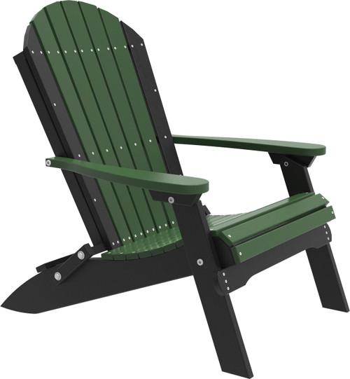 Green & Black Folding Adirondack Chair