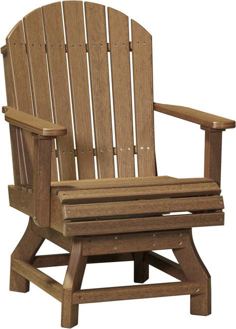 Antique Mahogany Adirondack Swivel Chair Dining Height