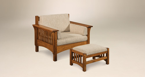 Pioneer Chair and Footstool