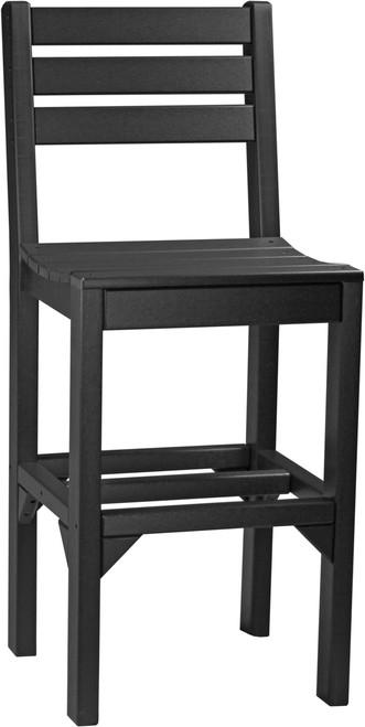 Black Island Side Chair Bar Height