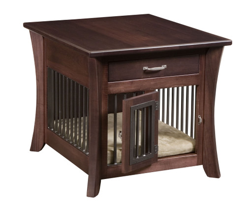 Caledonia End Table with Aluminum Slats