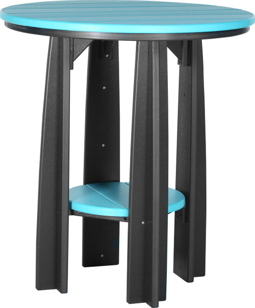 Aruba Blue & Black Balcony Table