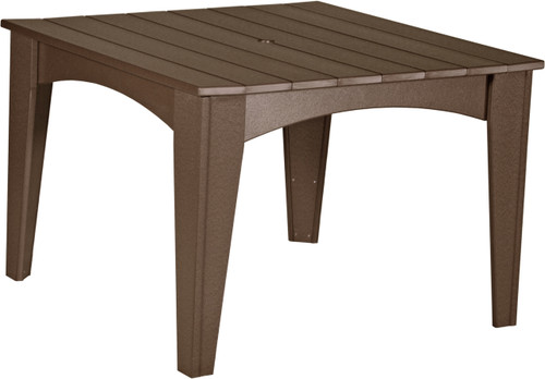 Chestnut Brown Island Dining Table