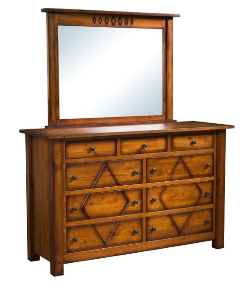 Diamond Mission Dresser and Mirror