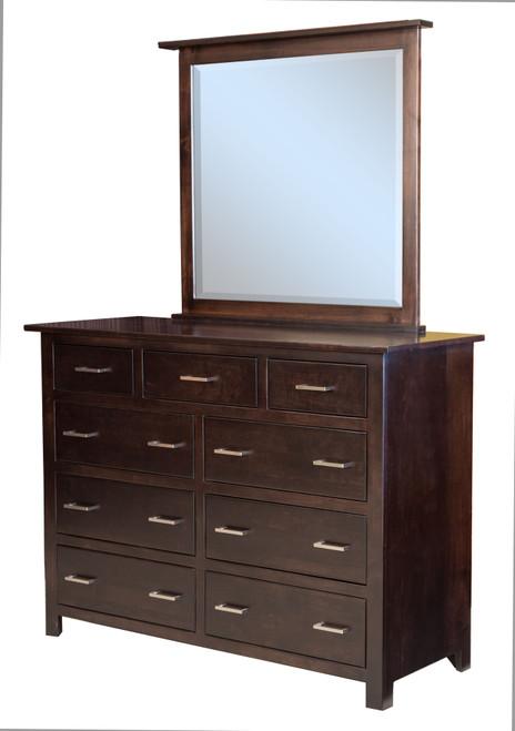 Econo 9 Drawer Dresser with Mirror